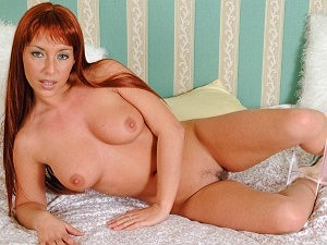 Flaming hot red-headed Debbie Turpin