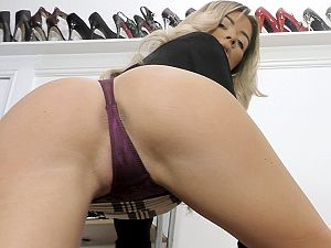 Teleela, frustrated boss, demands to be fucked!