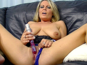 Randy Alexis May slips a vibrator past her panties